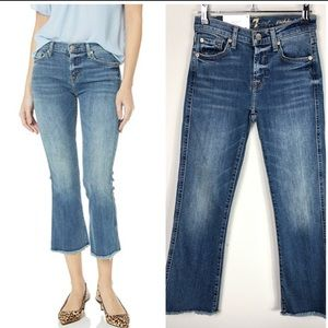 NEW 7 For All Mankind Precision Flare Crop Bootcut